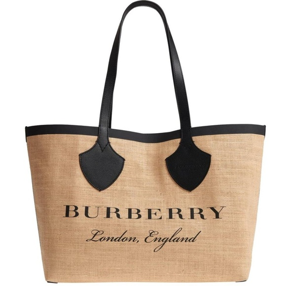 Burberry Medium Logo Print Brown Canvas Tote 021cf9d27b30c